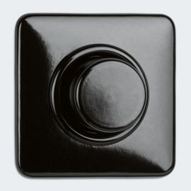Tast - Dimmereinsatz Kombi, Unterputz, 60 - 600 W, Bakelit schwarz, THPG