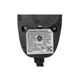 Schutzkontakt Verlängerung, H05 VV-F 3G x 1,5²mm, mit Power Split Stecker, 3 m, schwarz