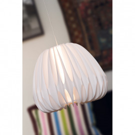Pendelleuchte, Wohnraumleuchten 1 x E27 / 40W Kunststoff weiß weißes Pendel