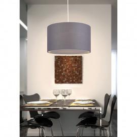 Pendelleuchte, Wohnraumleuchten 1 x E27 / 60W Textil grau Metallgestell Pende 700 mm
