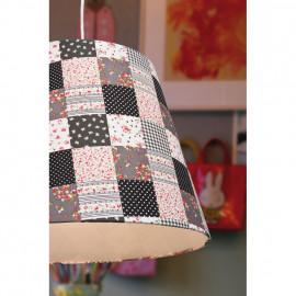 Pendelleuchte, Wohnraumleuchten 1 x E27 / 60W Textil Patchworkmuster