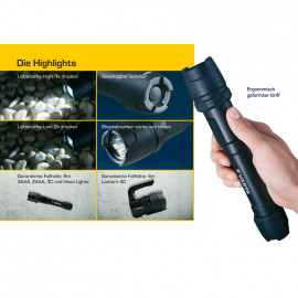 LED Handscheinwerfer, INDESTRUCTIBLE, 1 LED / 3W Länge 164mm, Ø 39mm - Varta