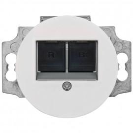 Anschlussdose UAE 1 bis 2 fach, Unterputz, RJ45, Zentralplatte Duroplast weiß