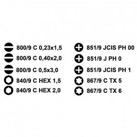 Micro Elektronik- Schraubendreher-Set, 11-teilig, in Tasche
