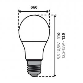 5 x E27 LED SMD Birnenlampe Warmweiß 5,5W entspricht 40Watt