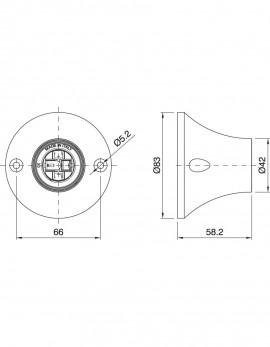 E27 Iso Deckenfassung weiß