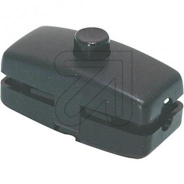 Druck Zwischenschalter schwarz 2A für doppelt isolierte Flachleitung