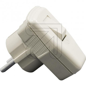 Winkelstecker abschaltbar Thermoplast, mit Schalter und Zugentlastung