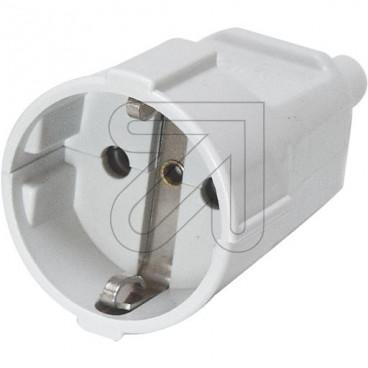 Protekt Kupplung 250V / 16A grau Thermoplast schlagfest bis H07RN-F 3x1,5mm²