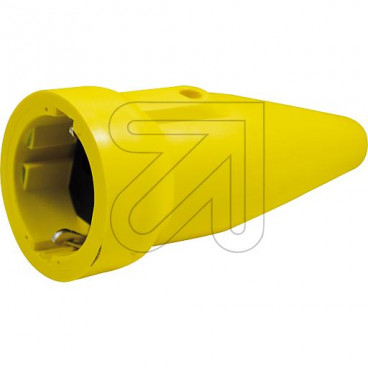 ABL PVC Signalkupplung mit Zugentlastung 250V / 16A gelb