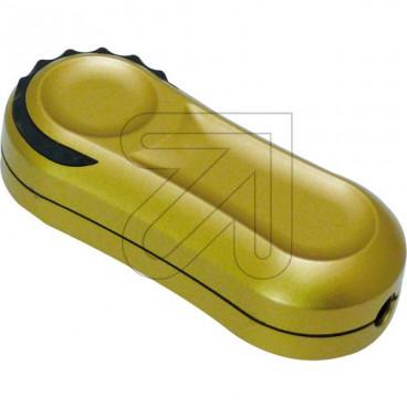 Lampen Schnur Fußdimmer, 20 - 200W, Phasenanschnitt, gold Ehmann