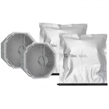 2 Stück Gießharz Kabelmuffen, für Kabel-Ø von 8 bis 14,5 mm, 4 Einführungen