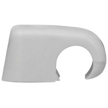 100 Stück Haftclips ohne Nagel, grau, halogenfrei für Kabel Ø 4-7 mm