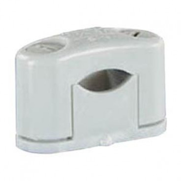 50 Stück SOM Kabelschelle, grau, halogenfrei für Kabel-Ø 6 - 16 mm