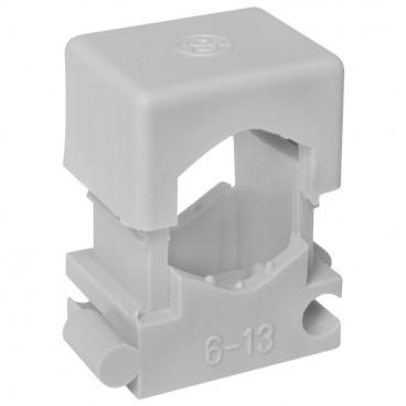 50 Stück Reihen Druckschelle, grau, anreihbar, für Kabel-Ø 16 - 26 mm