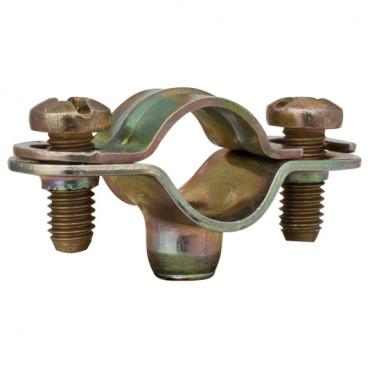 Rohrabstandsschelle mit Gewinde M 6, Größe M 50 Stahl galvanisch verzinkt