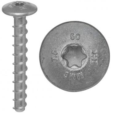 100er Packung Brandschutz-Schraubanker, MMS-MS, 7,5 x 50 mm, Torx T30