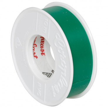 Coroplast PVC Isolierband Breite 15 mm, Länge 10 m Farbe grün