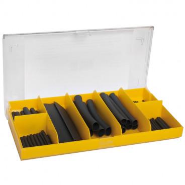 63 Stück Wärmeschrumpfschlauch- Sortiment Box
