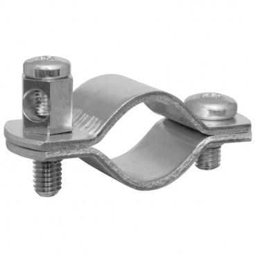 Erdungsrohrschelle, Bandeisen verzinkt, Größe 1/2 Zoll, für Rohr-Ø 18-22 mm