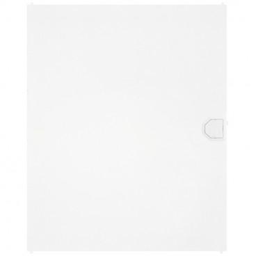 Tür für Kleinverteiler, 1-reihig, AP Kunststoff weiß - F-tronic
