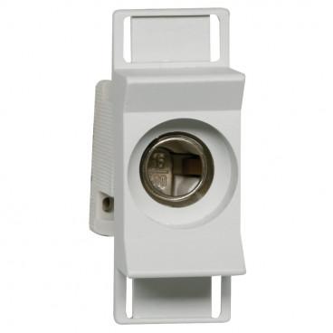 Einbausicherungssockel, 1-polig, ISO Abdeckung, Typ D02 / 63A