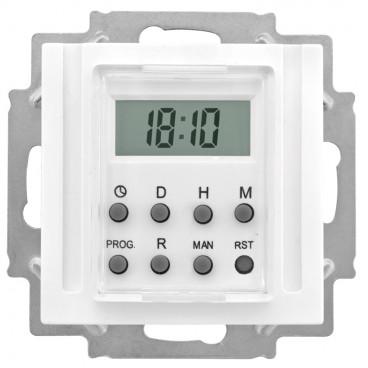 Zeitschaltuhr Kombi LCD, elektronisch, 230V / 1250-2500W 600VA, KLEIN®-KG 55 reinweiß