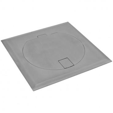 Steckdose Boden Einbau, eckig, Edelstahl, IP20, 1 Schutzkontakt Steckdose, Klein