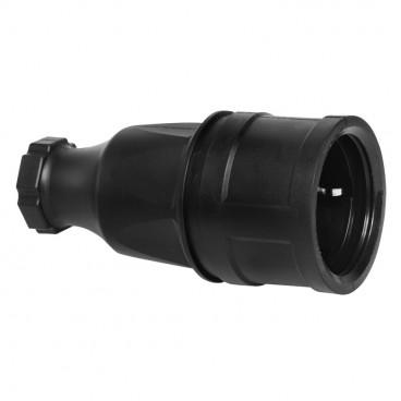 Gummi Kupplung mit Gummieinsatz, TAURUS, schwarz, IP44 - PCE