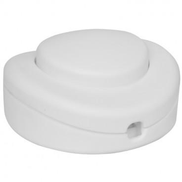 Schnur Fußschalter, 250V / 2(1) A, weiß für 2/3 adriges Flach und Rundkabel