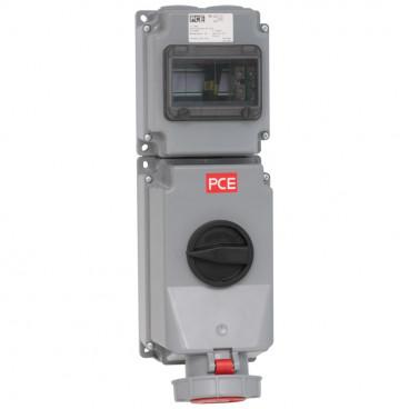 CEE Wandsteckdose, abschaltbar, 5-polig, 63A/400V, IP67 - PCE