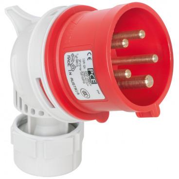 CEE Winkelstecker,  5-polig, 16A/400V, IP44 - PCE