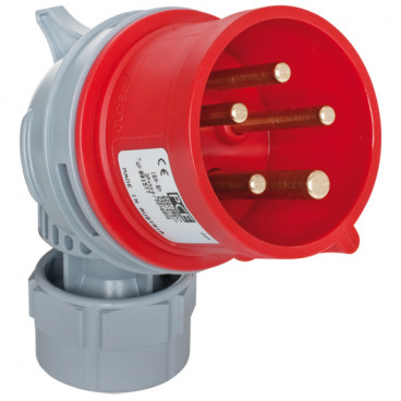 CEE Winkelstecker, 5-polig, 400V, IP44 Ampere 32A - PCE