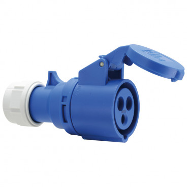 CEE Kupplung, 3-polig, 16A/230V, IP44 spritzwassergeschützt