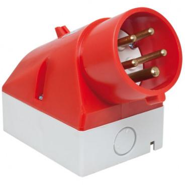 CEE Wandgerätestecker, 5-polig, 400V, IP44 Ampere 16A - Bals