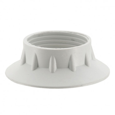 Kunststoff Fassungen ISO Gegenring E14, weiß 2 Stück