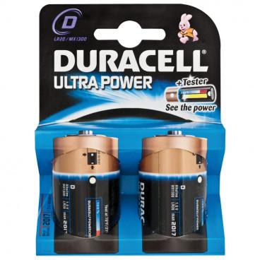 Batterie, ULTRA POWER, Alkaline, Mono, LR20, 1,5V, D - Duracell