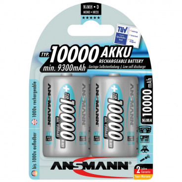 Akku, PROFESSIONAL, NiMh, 1,2V / 10000 mAh, Mono (Blisterware)
