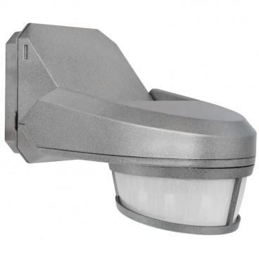 Bewegungsmelder, SWISS GARDE 4000, Erfassungswinkel 240° einstellbar alufarben