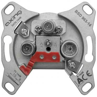 Antennensteckdose, BSD 963-14 Anschluss / Durchgangsdämpfung Axing