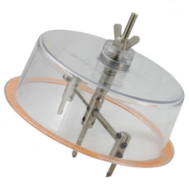 Universal Lochschneider Set, einstellbar von Ø 4 bis 20 cm, in Kunststoffkoffer