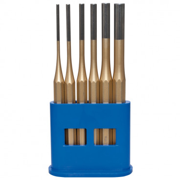 Splintentreibersatz, Chrom - Vanadium-Stahl, 6-teilig, Länge 150 mm, Ø 3 bis 10 mm