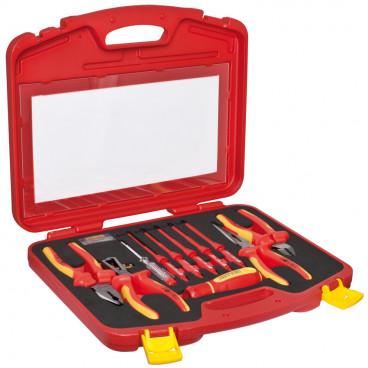 VDE Werkzeug-Satz, 11-teilig, in Kunststoff - Koffer