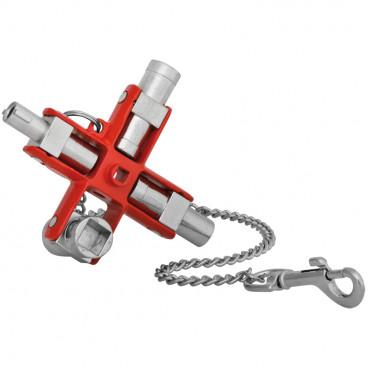 Schaltschrankschlüssel, SUBMASTER 9 IN 1, Metallguss