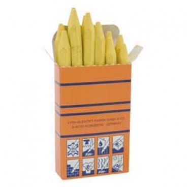 12 er Packung Signierkreide, gelb, Länge 110 mm, Ø 11 mm