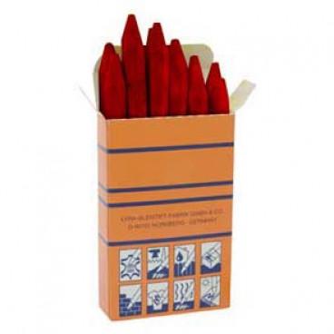 12 er Packung Signierkreide, rot, Länge 110 mm, Ø 11 mm