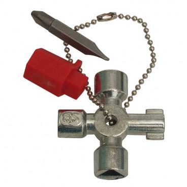 Schaltschrankschlüssel, MINI, Metall, Länge 44mm, Breite 44mm