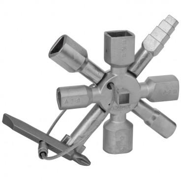Schaltschrankschlüssel, TWINKEY, Metallguss