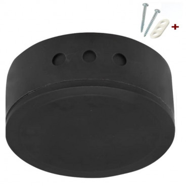 Verteilerdose Baldachin, schwarz, mit Schraubdeckel und Montageset