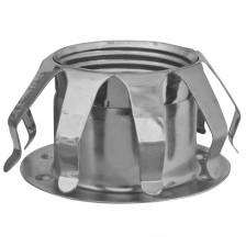 Lampen Fassungen Metallfederring E14, verzinkt mit Tellerhülse
